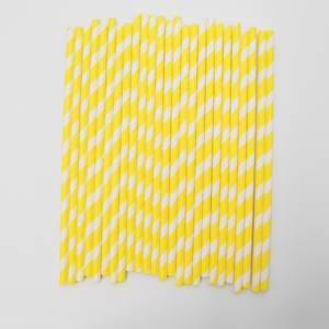 Bilde av Kort & Godt - Sugerør - XG209 - hvit-gul striper