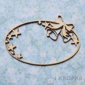 Bilde av I Kropka - Chipboard - Snow days - frame bells and stars