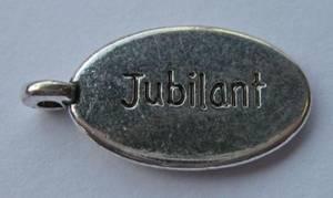 Bilde av Charms - Tekst - Oval - Jubilant - 8 stk