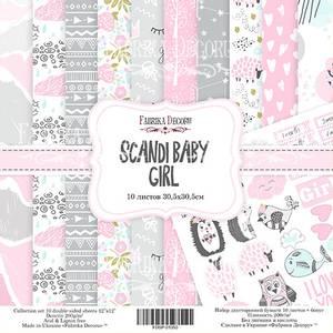 Bilde av Fabrika Decoru - 12x12 paper pack - 01050 - Scandi baby girl
