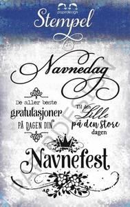 Bilde av Papirdesign - Stempel - PD17241 - Navnefest
