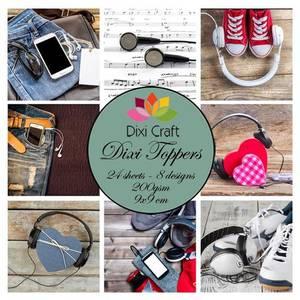 Bilde av Dixi Craft - Dixi toppers - ET0344 - Music
