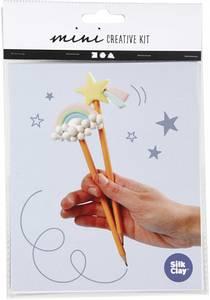 Bilde av Hobbysett - Mini - Modellering - Blyanter regnbue & stjerne