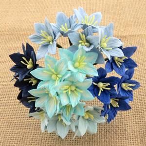 Bilde av Flowers - Lily Flowers - SAA-136 - Mixed Blue - 50stk