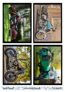 Bilde av Barto Design - Klippeark A4 - 069009 - Motorcycles