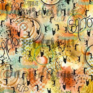 Bilde av Papirdesign PD2100594 - Vårtegn - Trampoline