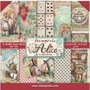 Bilde av Stamperia - 8x8 Paper Pack - 01 - Alice