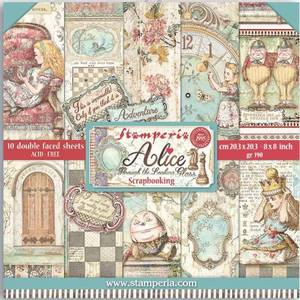 Bilde av Stamperia - 8x8 Paper Pack - 42 - Alice Through the Looking Glas