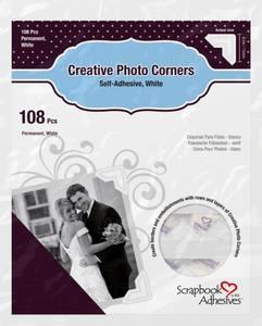 Bilde av Scrapbook Adhesives - Photo Corners Self-Adhesive - White