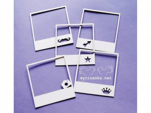 Bilde av Wycinanka - Chipboard - Polaroid ramme mix 2 - 5stk