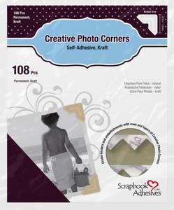 Bilde av Scrapbook Adhesives - Photo Corners Self-Adhesive - Kraft