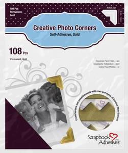 Bilde av Scrapbook Adhesives - Photo Corners Self-Adhesive - Gold