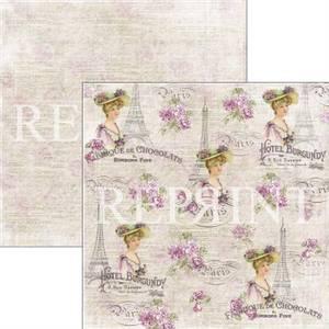 Bilde av Reprint - 12x12 - RP0273 - Lilac Paris Collection - French lady