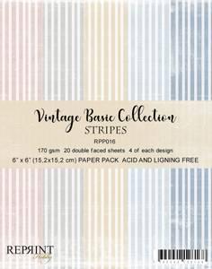 Bilde av Reprint - 6x6 - RPP016 - Vintage Basic Collection - Stripes