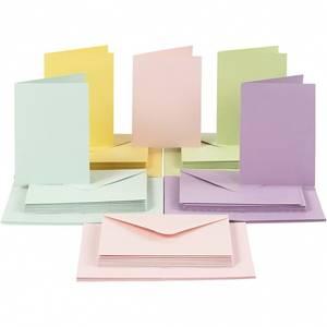Bilde av CCH - Kort og konvolutter 10,5x15 - 50 stk - Pastell