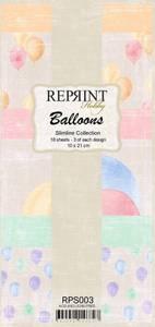 Bilde av Reprint - Slimline Paper Pack - RPS003 - Balloons