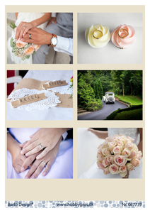 Bilde av Barto Design - Klippeark A4 - 067739 - Wedding