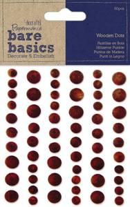 Bilde av Papermania - Bare basics - Wooden Dots Dark - 60 stk