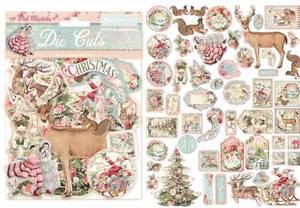Bilde av Stamperia - Chipboard Die Cuts - 15 - Pink Christmas
