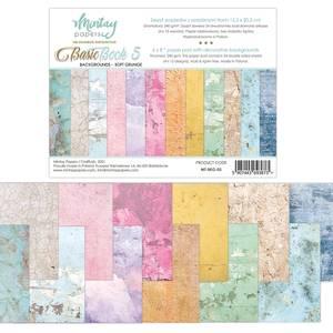 Bilde av Mintay - 6x8 paper pad - Basic Book 05 - Backgrounds - Soft Grun