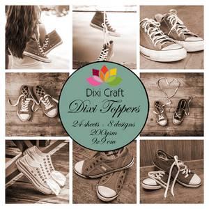 Bilde av Dixi Craft - Dixi toppers - ET0286 - Sneakers - Sepia