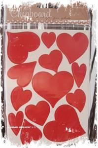 Bilde av Papirdesign - Chipboards - 637 - Hjerter rød