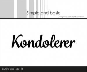 Bilde av Simple and basic - Dies - SBD143 - Kondolerer