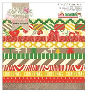 Bilde av Glitz Design - Paper Pad 6x6 - PP1493 - HELLO DECEMBER