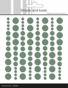 Bilde av Simple and Basic - SBA009 - Enamel Dots - Eucalyptus