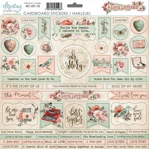Bilde av Mintay - LET - 12x12 - Love Letters - Cardboard Stickers