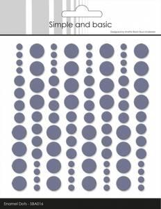Bilde av Simple and Basic - SBA016 - Enamel Dots - Eggplant