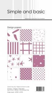 Bilde av Simple and basic - Paper Pack - SBP909 - 10x21cm - Old Rose