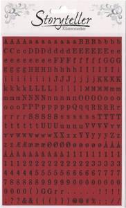 Bilde av Storyteller - Tiny Stickers - 8899 - OLD NEWSPAPER - DARK RED