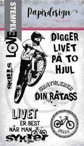 Bilde av Papirdesign - Stempel - PD18385 - På to hjul