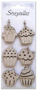 Bilde av Storyteller - Chipboardfigurer - Cupcakes, 6 stk