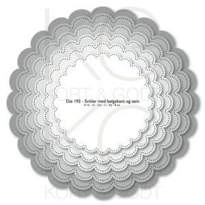 Bilde av Kort & Godt - Die 192 - Sirkler med bølgekant og søm