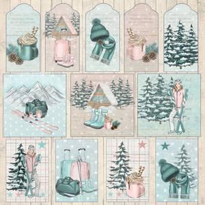 Bilde av Reprint - 12x12 - RP0418 - Cozy Winter - Tags