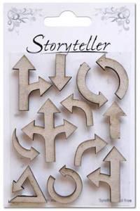 Bilde av Storyteller - Chipboardfigurer - Piler, 12 stk