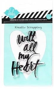 Bilde av Heidi Swapp - Clear stamp & stencil 98157 - ALL MY HEART