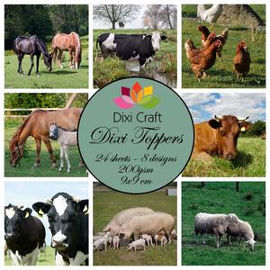 Bilde av Dixi Craft - Dixi toppers - ET0202 -  Farm Animals