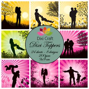 Bilde av Dixi Craft - Dixi toppers - ET0225 -  Family - colors
