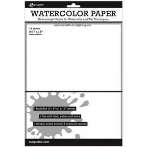 Bilde av Ranger - Inkssentials - WATERCOLOR PAPER 8,5x11 - WHITE