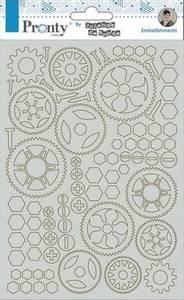 Bilde av Pronty Crafts - Chipboard - A5 - Gears By Jolanda