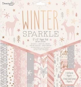 Bilde av Dovecraft - 12x12 Paper Pad - Winter Sparkle