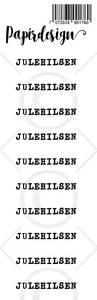 Bilde av Papirdesign - Transparent Stickers - 1900176 - Julehilsen