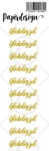 Bilde av Papirdesign - Transparent Stickers - 1900184 - Gledelig jul gull