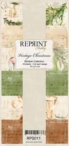 Bilde av Reprint - Slimline Paper Pack - RPS011 - Vintage Christmas