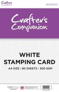 Bilde av Crafter's Companion - A4 - White Stamping Card - 60stk - 300g