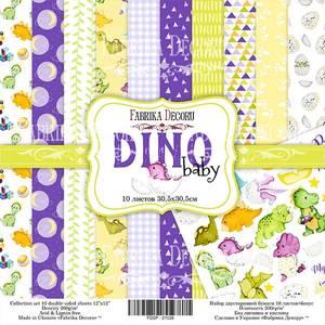 Bilde av Fabrika Decoru - 12x12 paper pack - 01038 - Dino baby