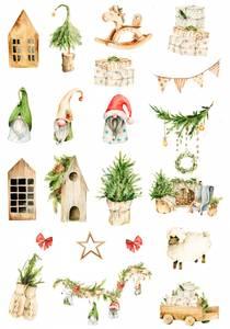Bilde av Reprint -  A4 Klippeark - KP0082 - Vintage Christmas - Cutouts